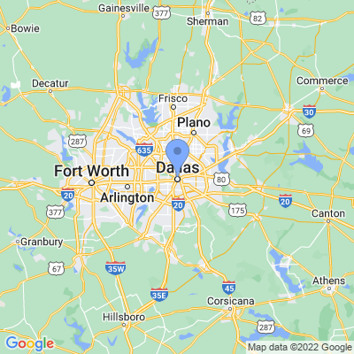 Map of truck driving jobs in Dallas, Texas